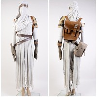 New Star Wars 7 The Force Awakens Rey Uniform Moive Jedi Halloween Cosplay Costumes For Adult