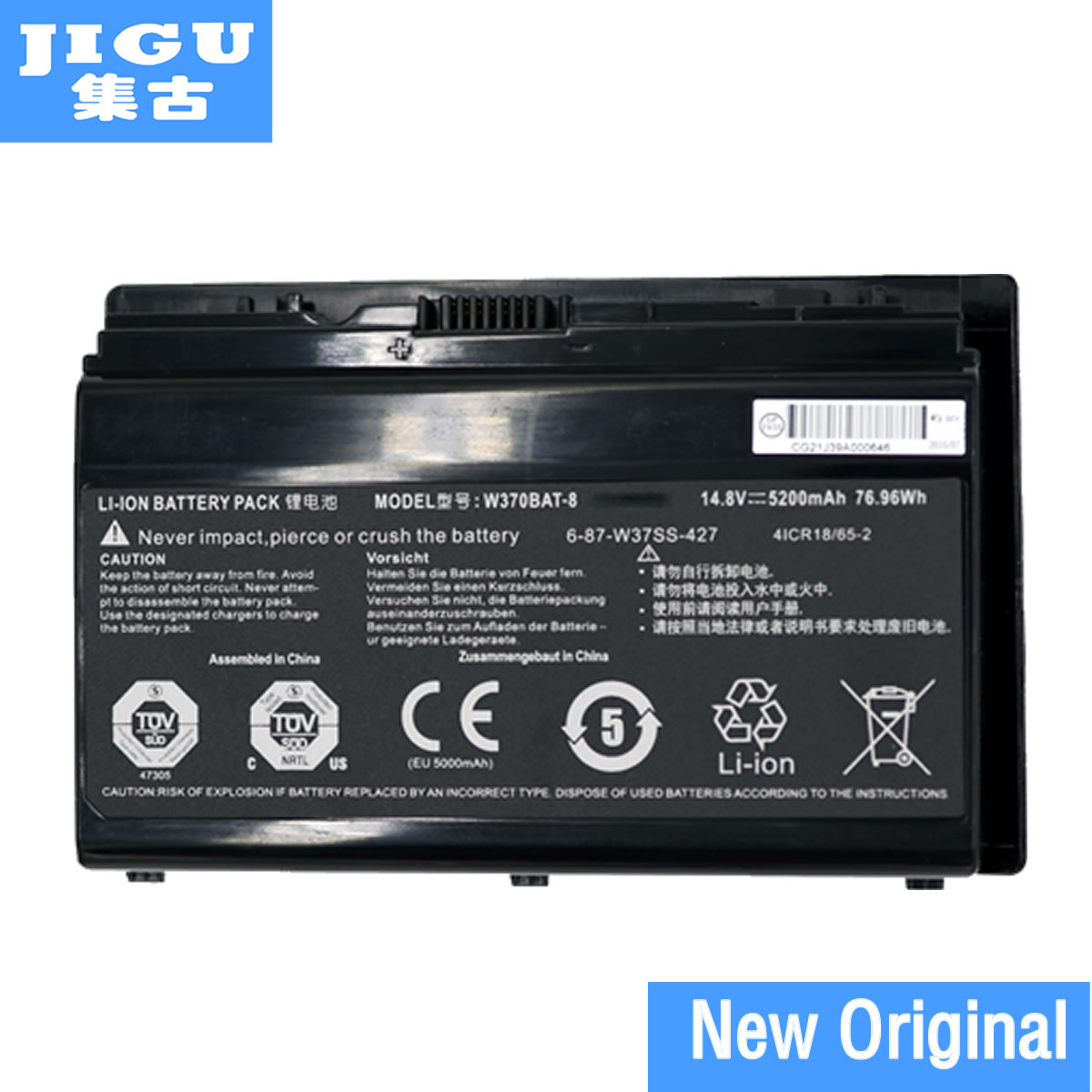 JIGU Laptop Battery 6-87-W370S-427 6-87-W370S-4271 6-87-W37ES-427 6-87-W37SS-427 W370BAT-3 W370BAT-8 FOR CLEVO K590S K790S origianl clevo 6 87 n350s 4d7 6 87 n350s 4d8 n350bat 6 n350bat 9 laptop battery