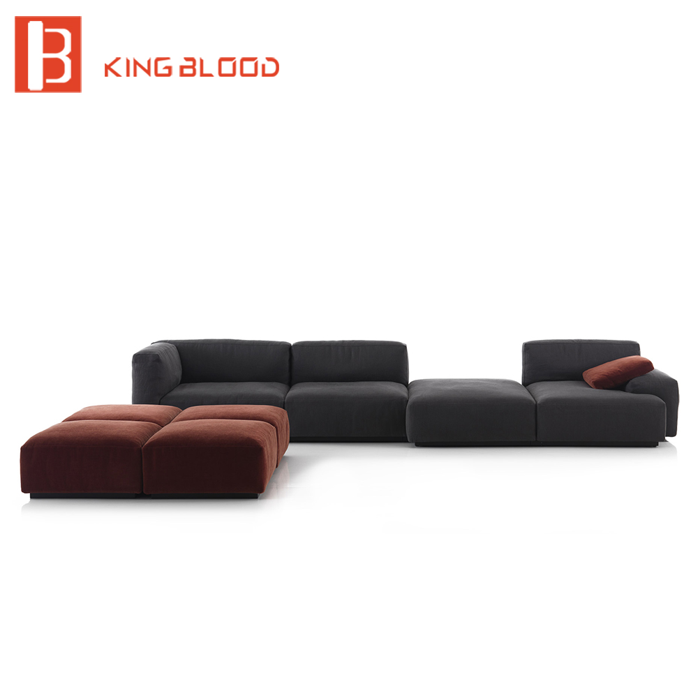 modular sectional couch fabric sofa set furniture-in