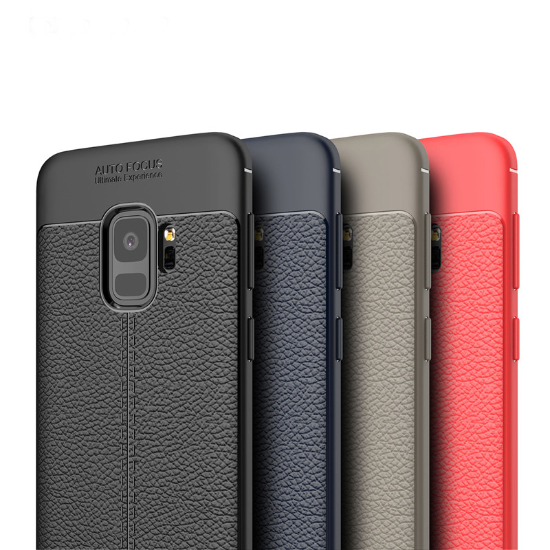 Leather Pattern TPU Shockproof Samsung Galaxy Note 3 4 5 8 S3 S4 S5 S6 S7 S8 S9 Edge Plus Ultra Thin Phone Cover