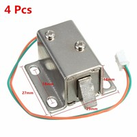 New Arrival Best Promotion 4Pcs Small 27x29x18mm 12VDC Cabinet Door Drawer Electric Lock Assembly Solenoid Lock