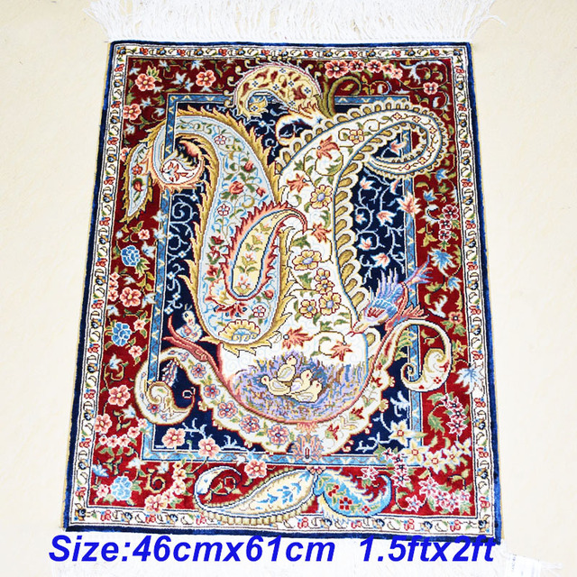Mingxin 1 5x2ft Bird Nest Turkish Silk Hand Made Wall Carpet Handmade Persian Rugs Bedroom