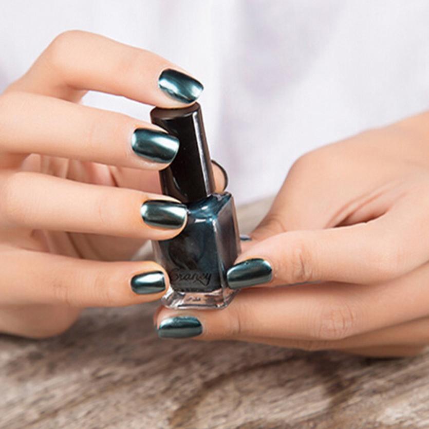 1 шт. 6 мл матовый лак для ногтей гелем зеркало лак для ногтей Покрытие серебряной пасты металла Цвет Нержавеющаясталь зеркало серебро ногт...