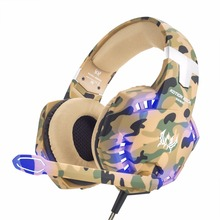 3.5mm Wired Stereo Camouflage Gaming Headset PS4 PC Xbox one Gamer Earphone Game Gaming Headphone For Computer With Microphone somic g926 wired earphone usb gaming headset stereo headphone with microphone for computer pc gamer