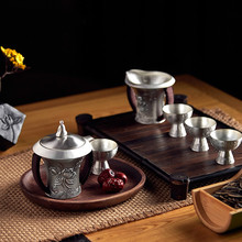 Foot Silver 999 Teapot Tea Cup Set Hand-made Patent Chanyuan Gift Of Teaware