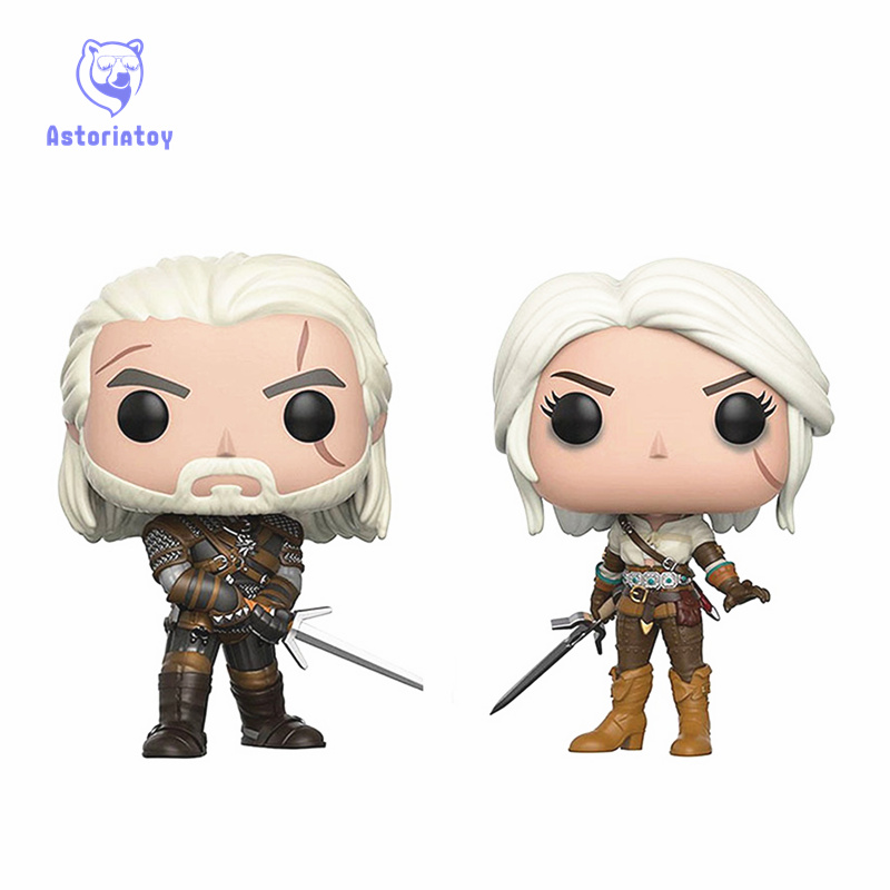 The Witcher 3 GERALT CIRI Game Movie Toys Action Figure Bobble Head Q Edition For Car Decoration Vinyl Figure Toys
