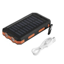 Waterproof Portable Solar power Charger power bank 30000mAh external phone Battery charger PowerBank 30000 mah With Compass