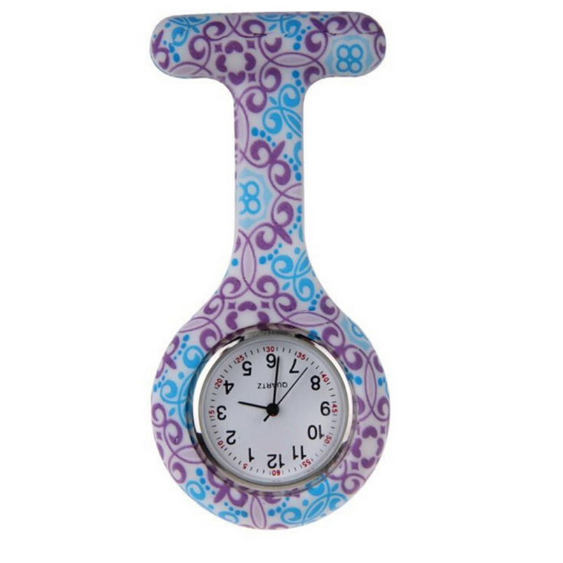 New Arrive Attractive New Nurses Doctor Fob Watch Brooches Silicone Tunic Batteries Medical Nurse Watch