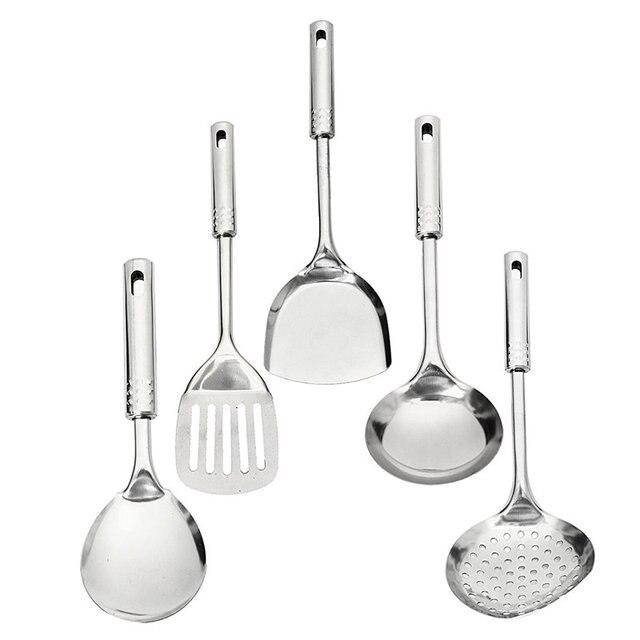 Restaurant Kitchen Toolste 5 piece stainless steel utensil set kitchen cooking tools s