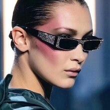 DCM Diamond Small Square Sunglasses Women Brand Sun Glasses