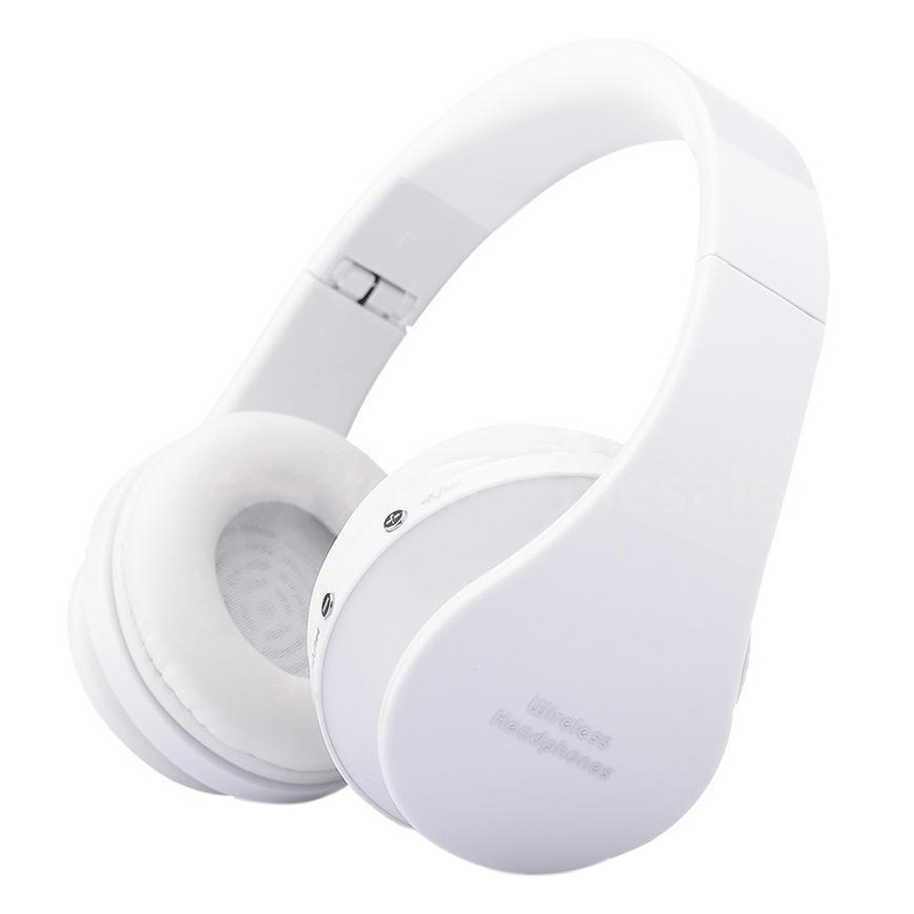 Foldable Bluetooth Wireless Headset Sport Stereo Headphone Earphone Handfree Mic Color:White factory price bluetooth wireless handfree headset stereo headphone earphone sport universal jy26 drop shipping high quality