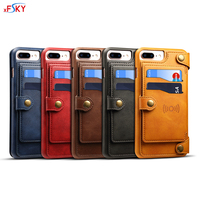 Wholesale 50pcs/box Fashion All in one Split Bcak Cover Leather Wallet Case For iphone X&6&7&8 plus Cases With Stand Card Slots