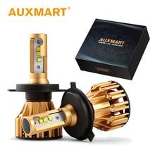 Auxmart LED H7 H4 H11 HB3 9005 HB4 9006 HA CONDOTTO LA lampadina Auto Del Faro kit 70 w 7000lm 6500 k Auto HA CONDOTTO LA Lampada H 11 4 7 HA CONDOTTO LA Luce Dell'automobile di SMD