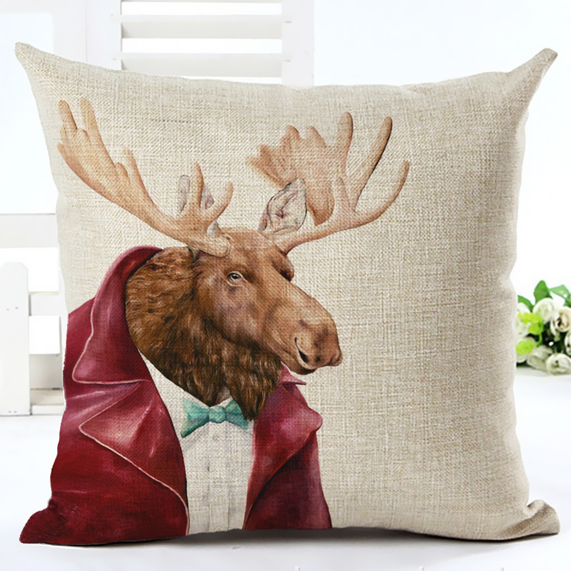 2017 New Animals Series Print Cushion cover Home Decor Decorative - Home Textile - Photo 5