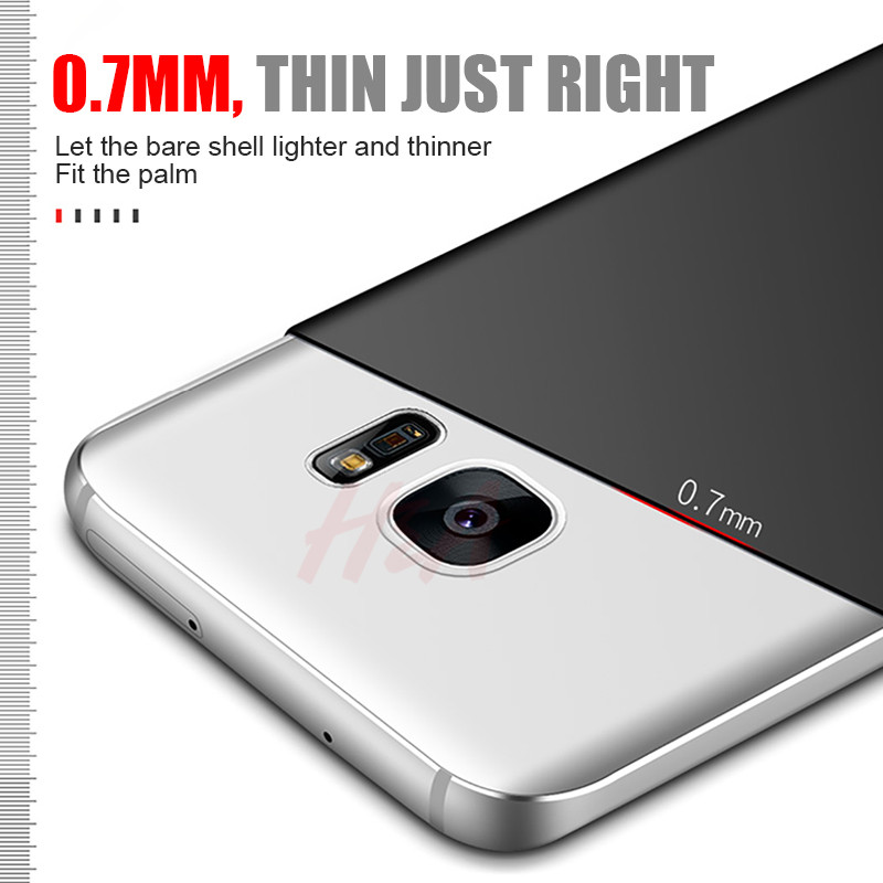 buy popular b69f1 221f0 H&A Ultra Thin Hard Back Cover Case For Samsung Galaxy S9 S8 Plus S7 Cover  Luxury Matte Case For Samsung S7 S6 edge Phone Cases