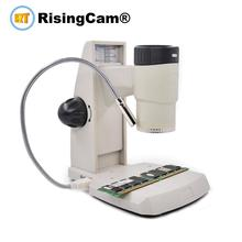 2 in 1 USB 2.0mp el ayrılabilir dijital video biyolojik stereo mikroskop ölçüm fonksiyonu ile