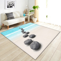 3D Beach stone coral Rugs Flannel Rug Memory Foam Carpet Baby Play Crawl Mat large Carpets for Home Living Room/kids room decor