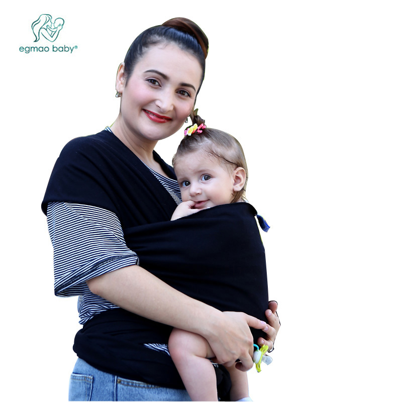 Hot Selling Baby Sling Stretchy Wrap Carrier, Solid Color Elastic Adjustable Cotton HipseatBackpack For Newborn Baby Wraps