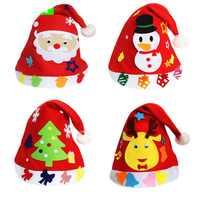 1PCS Children DIY Creative Nonwoven fabric Hats Christmas Gift Creative Decoration Supplies Kids DIY Handmade Crafts Art Toys