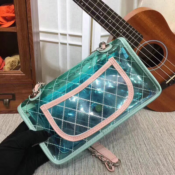Free DHL Top Quality PVC Transparent Handbags Luxury Brand Handbags Women Bag Designer 2018 Newest Crossbody Chain Bags 25cm