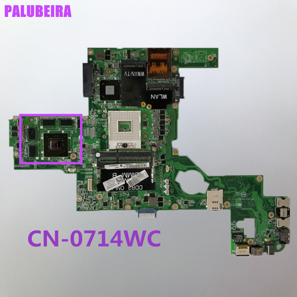 PALUBEIRA CN-0714WC 0714WC для Dell XPS L502X ноутбук материнская плата GT540 DAGM6CMB8D0 HM67 100% тесты ok