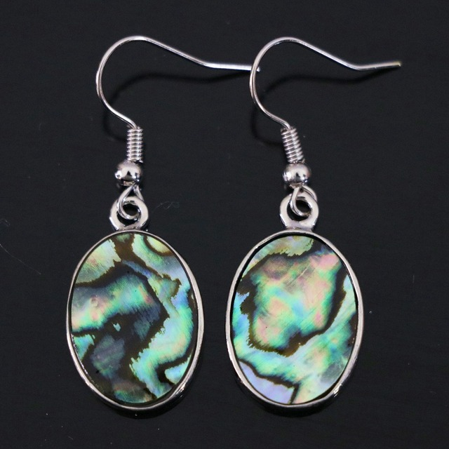 5e08c4277 Hot sale design natural abalone shell oval drop dangle vintage classical  earrings wedding jewelry B1159
