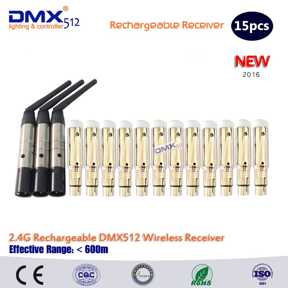 DHL Free shipping  12pcs Wireless Receiver built-in rechargeable battery and 3pcs Transmitter for Stage  LightDHL Free shipping  12pcs Wireless Receiver built-in rechargeable battery and 3pcs Transmitter for Stage  Light