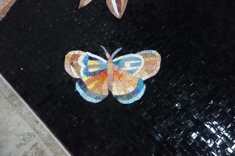 mural de parede completo de obras de arte em mosaico de vidro feito - Decoração de casa - Foto 6