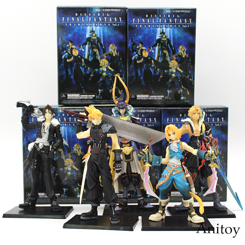 цена Final Fantasy 5pcs/set Cloud Warrior of Light Action Figures Squall Doll PVC Action Figure Collectible Model Toy KT3704