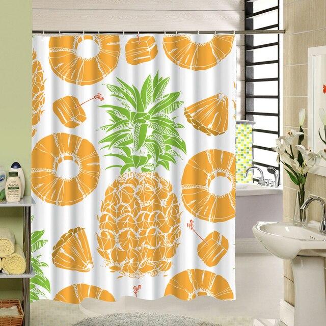Ananas D été élément Rideau De Douche Fruits Motif Salle De Bain En
