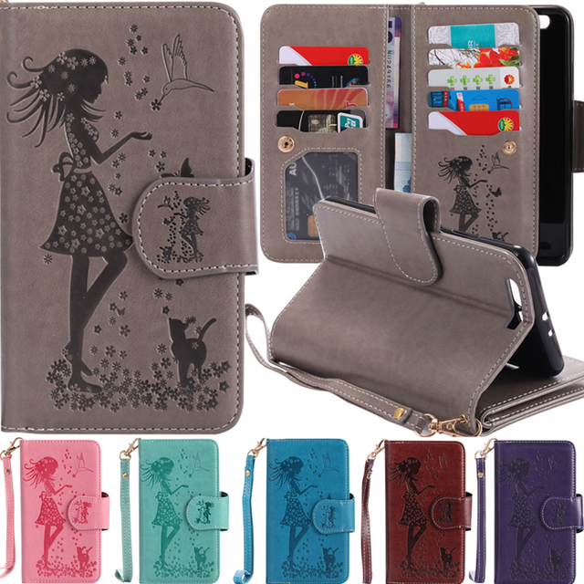 Flip cases for Huawei P8 Lite 2017 fashion 9 cards leather cases for Huawei P8 Lite 2017 PRA PRA-LX1 PRA-LA1 PRA-LX3 Phone Cases