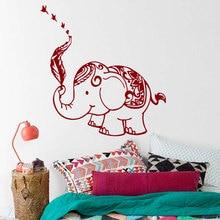 Removable Wall Decal Elephant Mandala Feather Buddha Sticker Bohemian  Bedroom Living Yoga Home Decor Vinyl Murals M-79