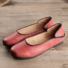 Careaymade-Free shipping,2017 new spring female sheepskin shoes the pure handmade Genuine leather comfortable leisure flat