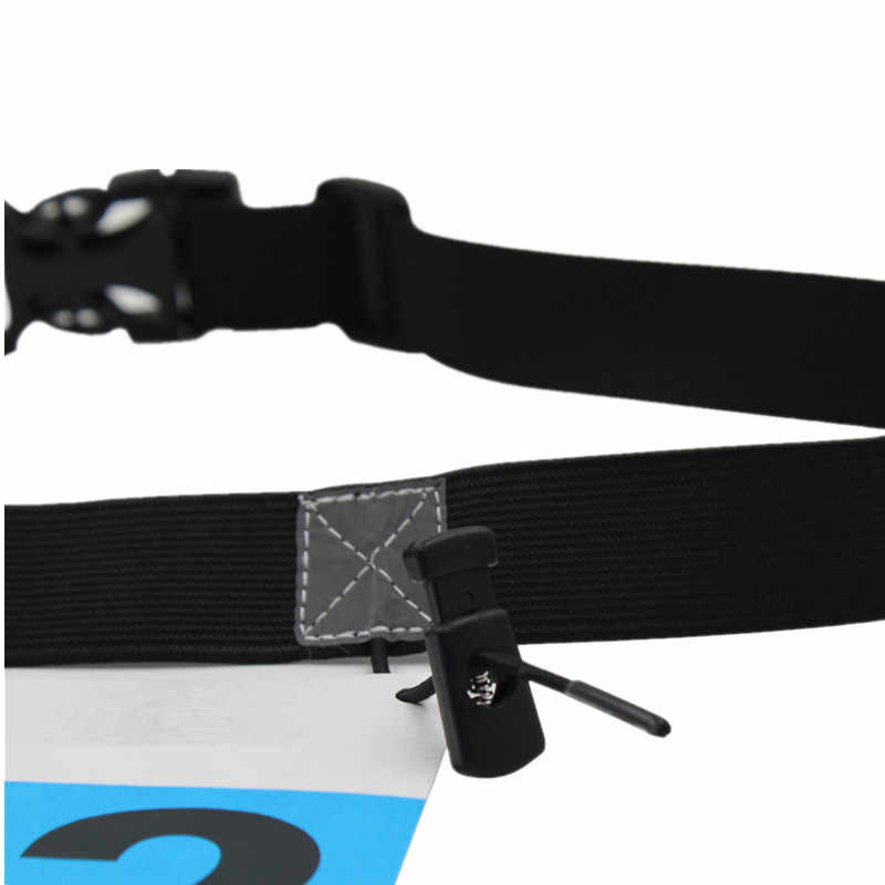 حقيبة خصر للجري للرجال والنساء ، حزام سباق الماراثون الترياتلون ، مع 6 حلقات جيل Startnummernband