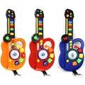 Crianças guitarra toys plastic led guitarra instrumento musical infantil órgão eletrônico brinquedo dj stage estilo presente educacional