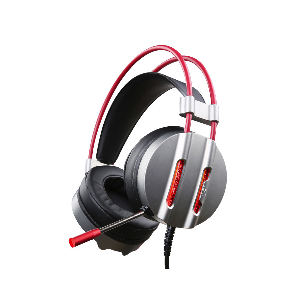 Super Heavy Bass 3.5mm+USB Charging Stereo Gaming Headset 2.2m Cable LED Light Headphone With Microphone For Computer