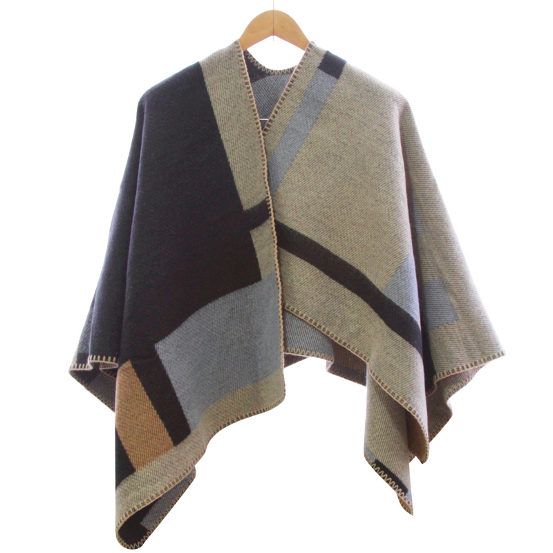 14d80f81a 2016 new Brand Women Poncho Monogramed Blanket Poncho Cashmere Wool  Personalized initials Scarf plaid poncho cape winter poncho-in Women's  Scarves from ...