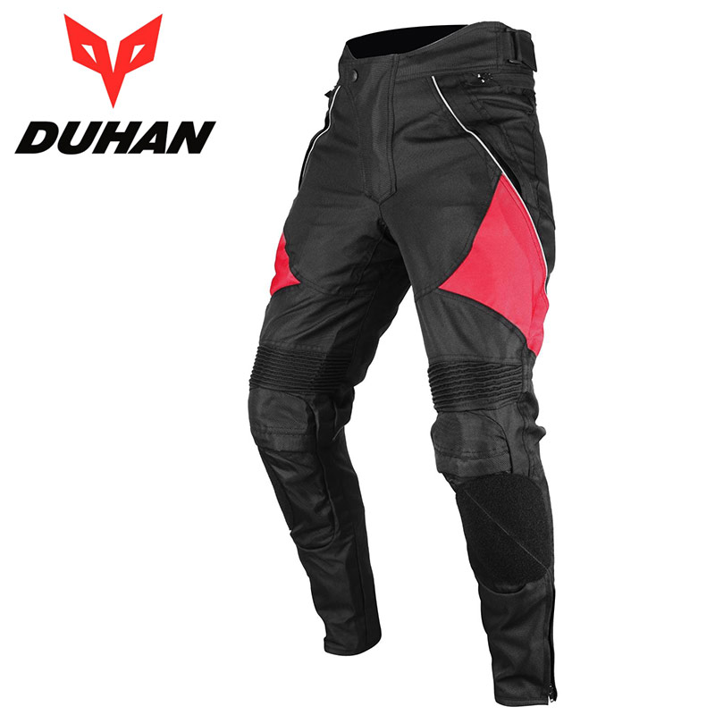 Brand Men's Motorcycle Protective Waterproof Riding Black Pants DUHAN Oxford Cloth MOTO Windpoof Trousers with Knee Protection duhan motorcycle waterproof saddle bags riding travel luggage moto racing tool tail bags black multifunction side bag 1 pair