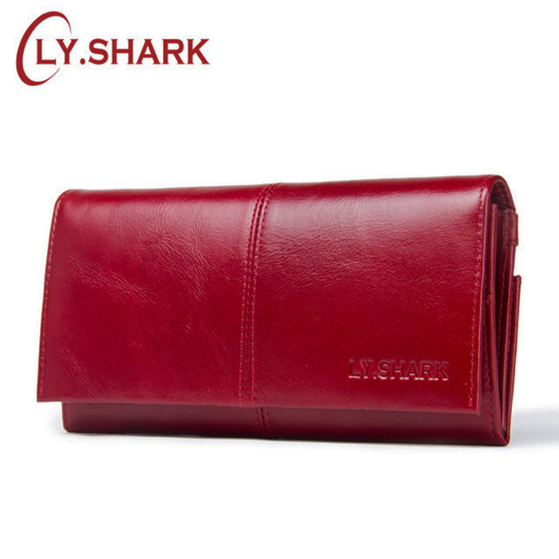 luxury brand long genuine leather wallet women coin purse ladies wallet for credit card holder walet red women clutch money bag ...