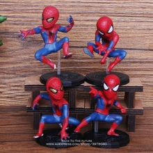 Disney Marvel Avengers Spider Man 4pcs/set 6-8cm Action Figu