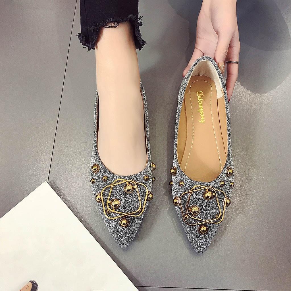 Bling b Peu Verano Youyedian De G25 2019 Planas Mujer Chaussures En Mocassins A Profonde Métal Unique Mode Dames c Femmes Casual Sandalias 40wqXRwxA