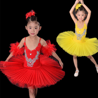 Children Yellow White Blue Rose Red Black Swan Costume Kids Ballet Dance Costume Stage Professional Ballet