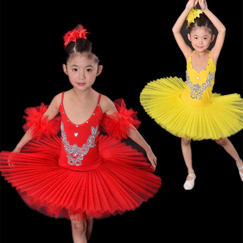 c0c644607 Children Yellow White Blue Rose Red Black Swan Costume Kids Ballet ...