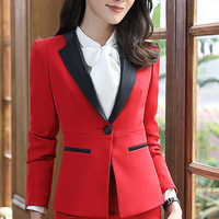 New fashion women skirt suits set Business formal long sleeve Patchwork plus size work uniforms blazer and skirt office ladies