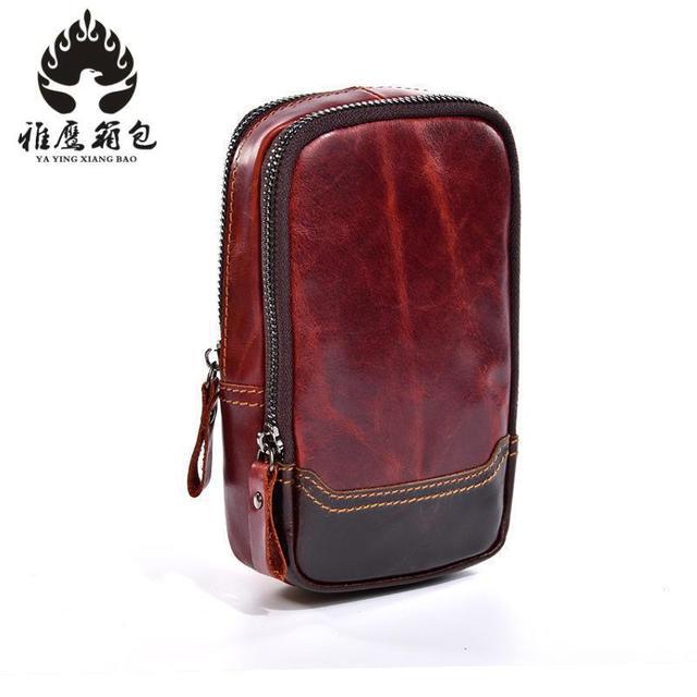 Vintage Genuine Leather Casual Multi-functions Bag Men s Leg Waist Pack  Phone Tool Kit Organizer Shoulder Bag Messenger Bag b00c0cfe1fcd5