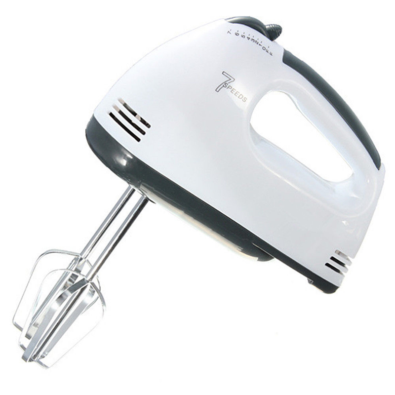 1PCS EU Plug 7 Speeds Hand Mixer 180W 220-240V Egg Beater Electric Mixer With 4 Different Type Stirrer Kitchen Supplier