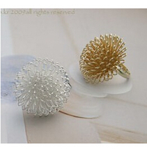 R180 Latest Fashion Multilayer Charming Lovely Dandelion Flower Ring Jewelry Factory Direct 1pcs