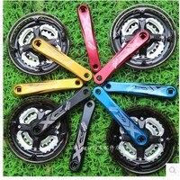 A01 Free Shipping Kun Aluminum Crank 7 8 9 Speed Mountain Bike Crankset Sprocket Belt To