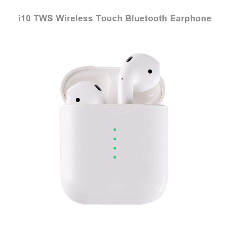New i10 Mini TWS Wireless Touch Bluetooth Earphone AirDots Stereo Earbuds Headset With Mic for iPhone