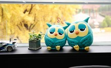 small cute plush Owl pillow new green owl toy doll gift about 38cm